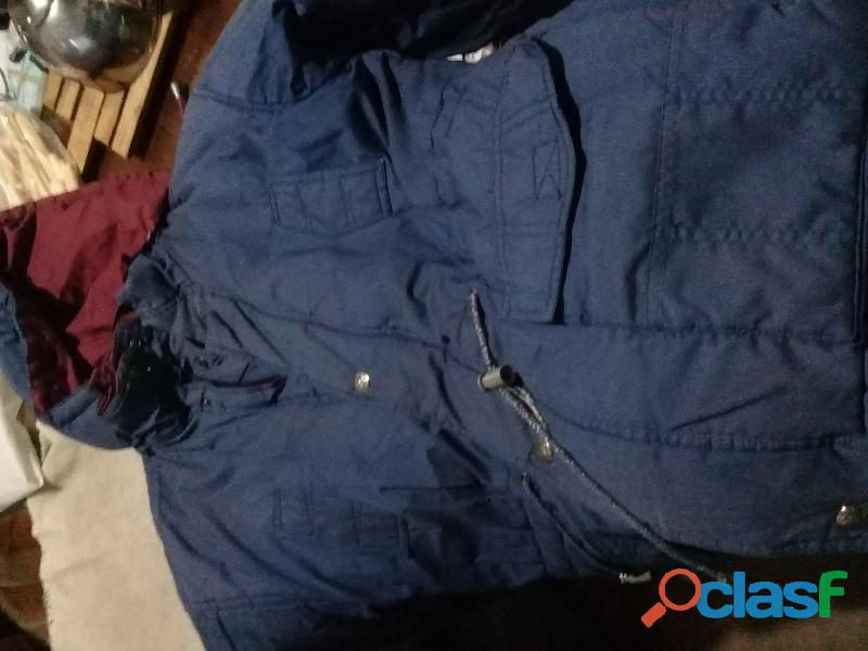 Campera reversible azul / bordo talle m