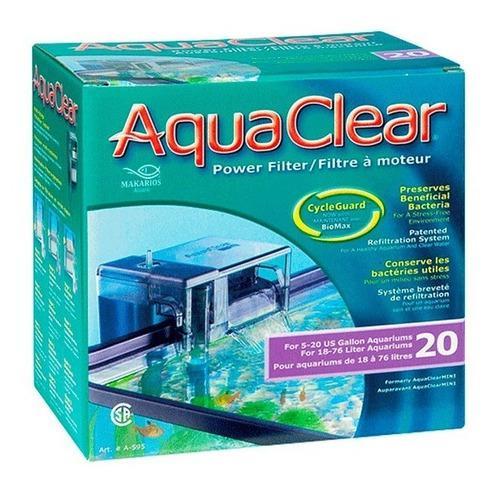 Filtro cascada exterior acuario pecera aquaclear 20 75lt