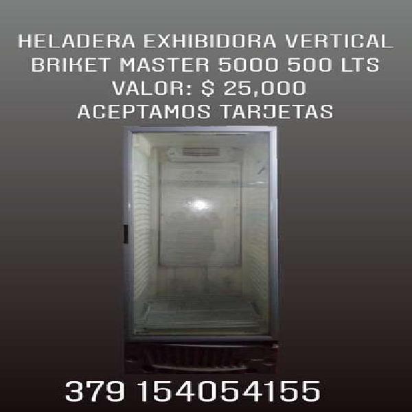 Heladera exhibidora vertical briket master 5000 500 lts