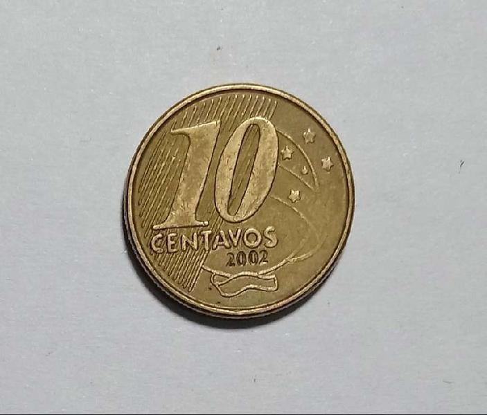 Moneda diez centavos 2002 brasil