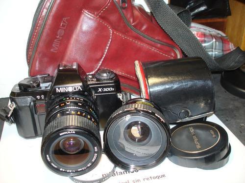 Minolta reflex x300 lente minolta y wide sakar gtia 4 meses