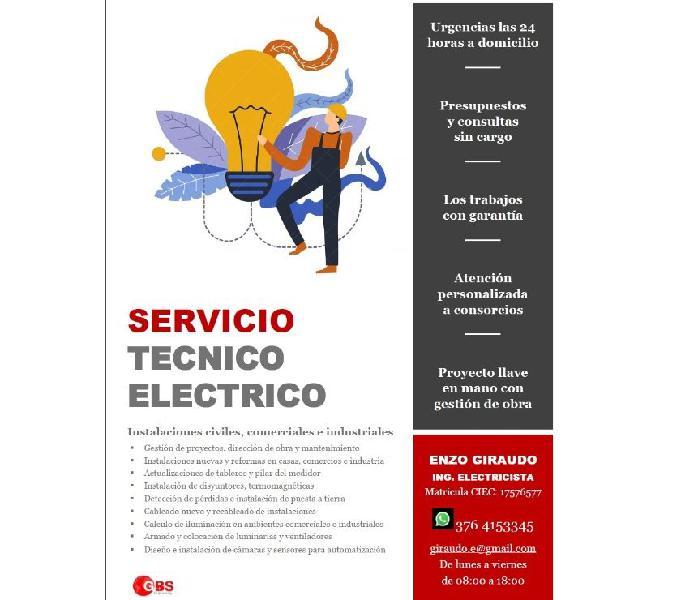 Servicios elecricos civiles, comerciales e industriales