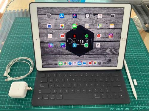 Ipad pro 12.9 2da generación con funda teclado y pencil