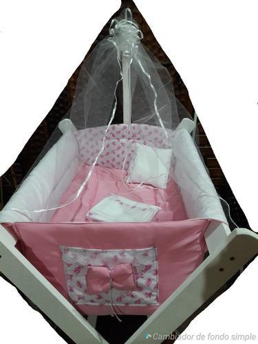 Bolsón catre bebe incluye colchón+base+acolchado