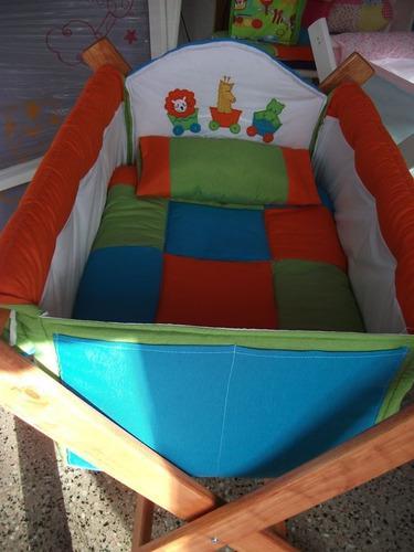 Catre cuna para bebes. personalizados! con bordado