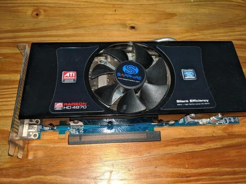Placa De Video Sapphire Ati Radeon Hd 4870 1gb Gddr5 256bits