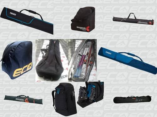 Lote 8 bolsos funda porta ski snowboard bota eco eurocamping
