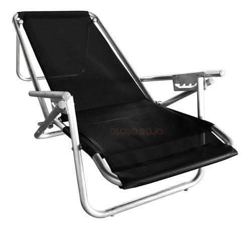 Reposera aluminio reforzada silla playera cama 100kg