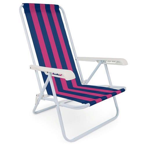 Silla playera reposera plegable 4 posiciones playa reforzada