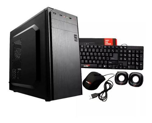 Gabinete sentey g28 fuente 500w + teclado, mouse, parlante