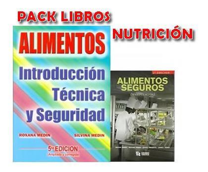Pack nutricion medin alimento libros nuevos