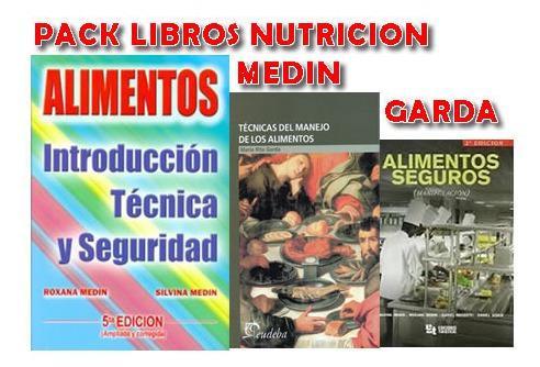 Pack nutricion medin alimento y garda tecnicas libros nuevos
