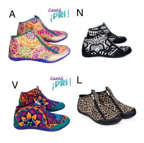 Zapatillas tipo botita diseño coloridas del 36 al 42 unicas