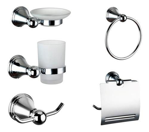 Accesorios de baño kit set juego dantes metz 5 piezas