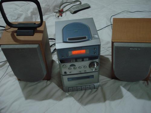 Equipo de musica minicomponente sony cd radio am-fm cassette