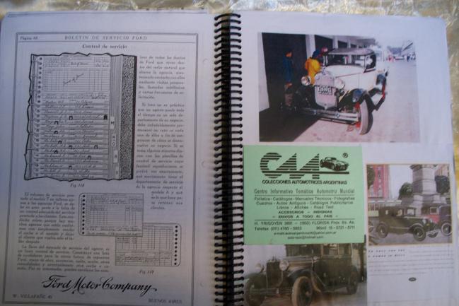 "Manuales tecnicos linea ford ""a"" * 1928 -31"