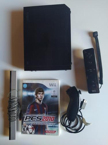 Nintendo wii retrocompatible + controles + juego + trafo
