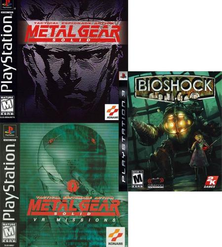 Bioshock + metal gear solid - digital - ps3