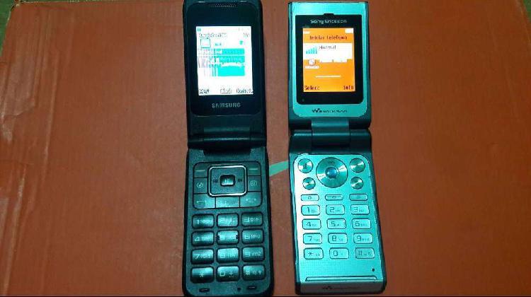 Samsung e2530 y sonyericson w380 con tapita