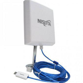 Antena wifi cpe nisuta placa usb 2000mw 12dbi 3km cable 10m