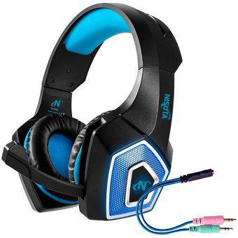 Auriculares pc gamer nisuta aug350l con luz y micrófono