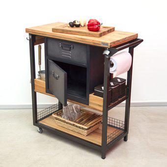 Barra movil - ayudante de cocina - para asador - isla