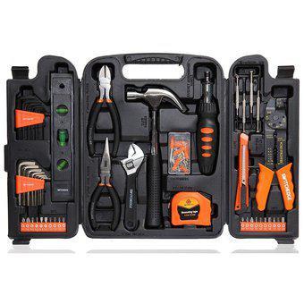 Caja set herramientas rally 129 pzs maletín/llaves