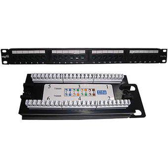 Patch panel 24 puertos nisuta ns-pa524 cat5e rack 19 pachera