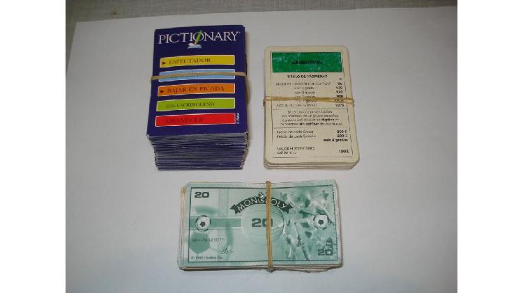 Cartas de juegos de mesa usadas