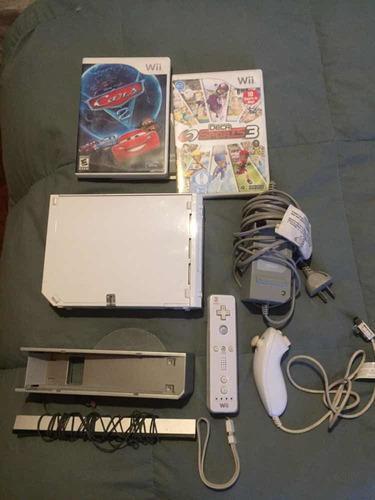Nintendo wii + accesorios + 3 juegos