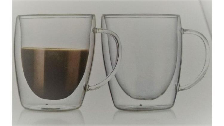 Tazas doble vidrio 300ml, termicos, calidad premium.
