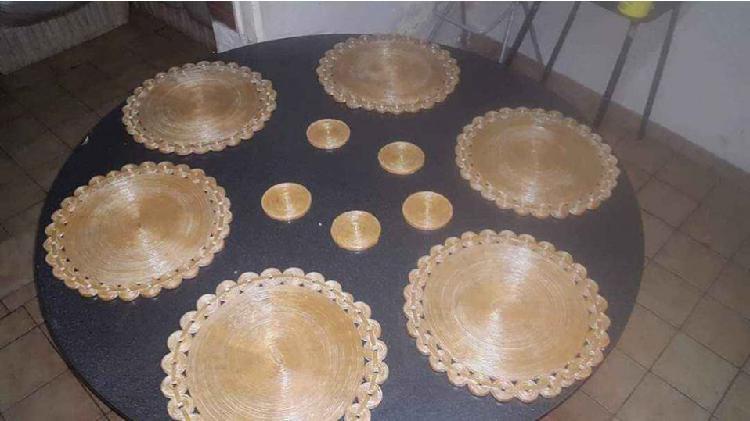 Vendo individuales posa vasos para mesa