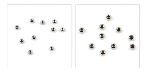 100 bolitas niquel 3mm de metal para armar bijouterie