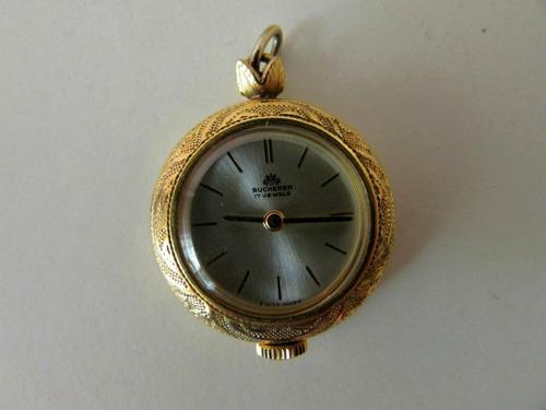 Antiguo reloj colgante dije pendiente bucherer cuerda caja