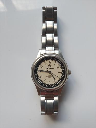 Antiguo reloj pulsera vintage dunlop quartz acero metálico