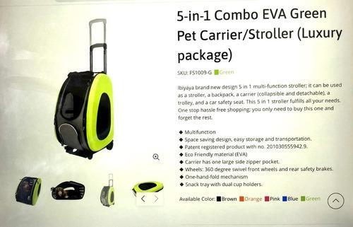 Bolso/mochila/transporte con ruedas para perros y gatos