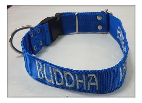 Collar de perro regulable con identificación bordada 4 cm
