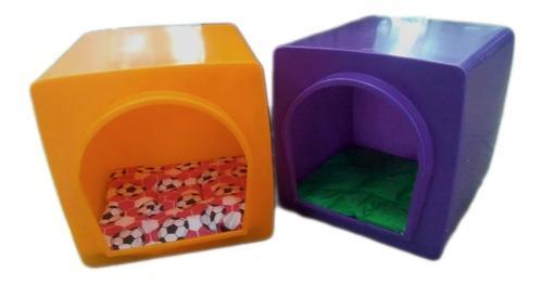 Cucha cubo plastico perro gato mascotas microcentro