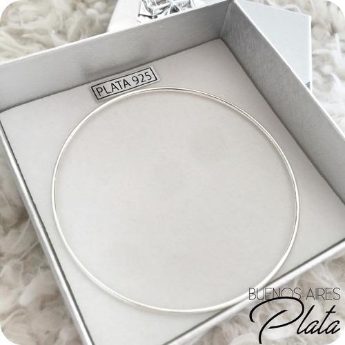 Pulsera esclava aniversario plata 925 1.5mm maciza garantía