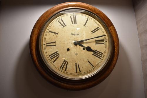 Reloj antiguo ansonia tipo ferrocarril impecable