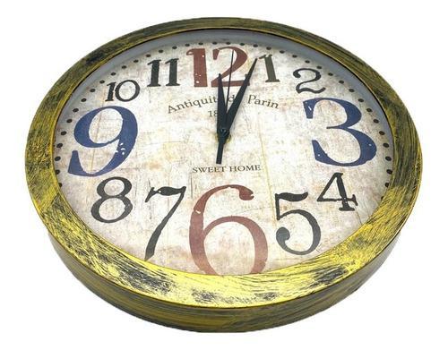 Reloj pared grande redondo 30cm vintage elegante piu online