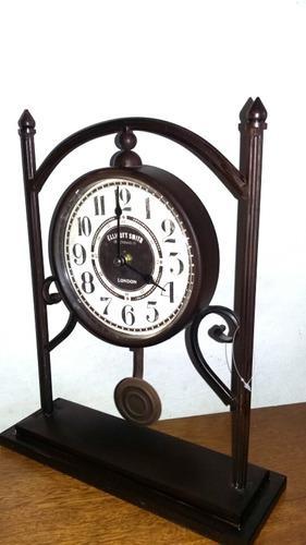 Reloj simil antiguo vintage metal pendulo 35x28cm indonesia