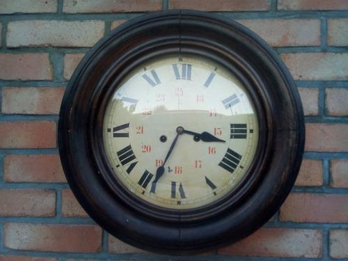 T-antiguo reloj de pared estación ferrocarril redondo bombe