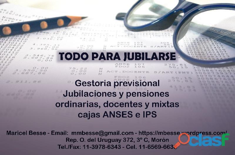 Jubilaciones docentes IPS, ANSES y mixtas