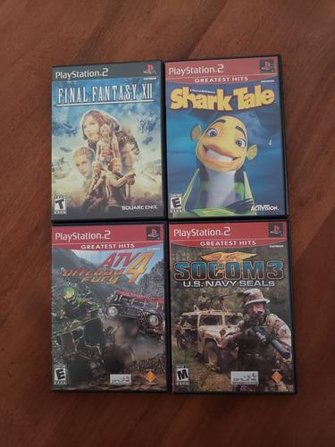 Lote juegos originales play 2 + base luminosa ** leer **