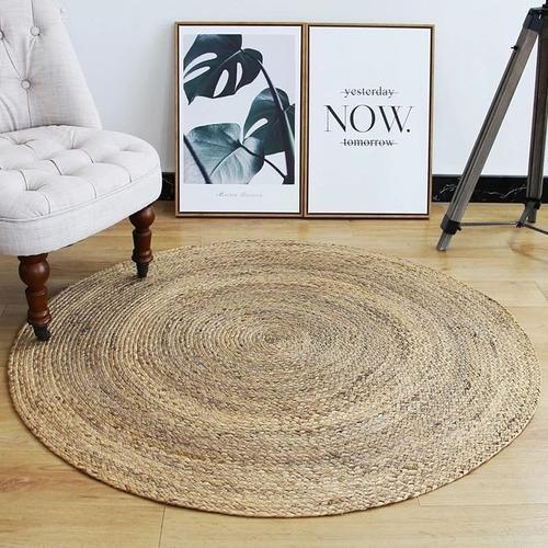 Alfombra yute redonda natural 90cm diámetro deconamor reg.