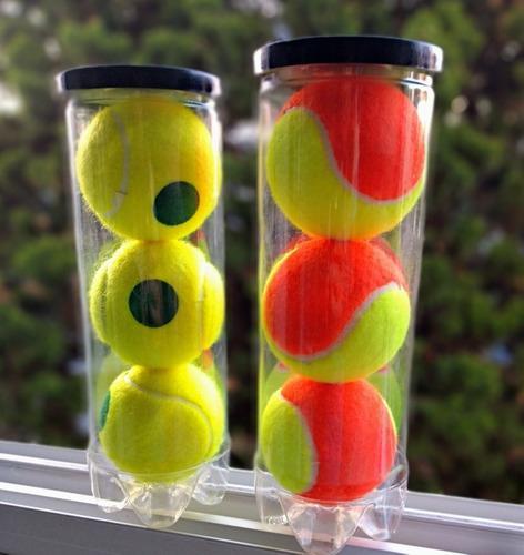Pelotas de tenis de baja presión (tubos x3)