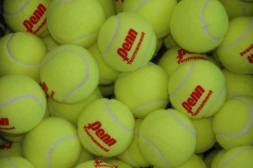 Pelotas de tenis penn,sueltas por 3 un. sello rojo!!