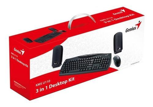Teclado + Mouse + Parlantes Genius Kms-u110 Ps2