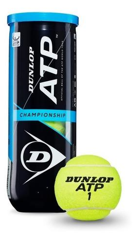 Tubo pelota pelotitas tenis dunlop x 3 unidades atp champion